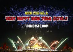 Wish you all a very Happy New Year 2016 #HappyNewYear #NewYear @promozseo promozseo.com