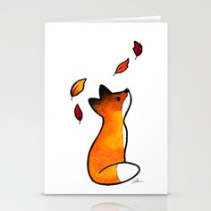 Der Fuchs und die Blätter - 5 x 7 Kunstdruck The fox and the leaves were originally done in gouache with ink detailing. This print is printed on archival rag art paper that I cut out by hand and is in Watercolor Leaves, Tattoo Watercolor, Watercolor Painting, Animal Watercolour, Watercolor Quote, Watercolors, Watercolor Sketch, Watercolor Pencils, Watercolor Portraits