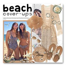 """""""COVER-UP"""" by purplerose27 ❤ liked on Polyvore featuring Oris, River Island, Melissa Odabash, Free People, Victoria's Secret, FitFlop, Kate Spade, Ray-Ban, Sans Souci and coverups"""