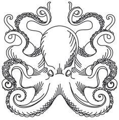Nauticus - Octopus | Urban Threads: Unique and Awesome Embroidery Designs