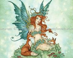 Love Dragons 8X10 PRINT by Amy Brown by AmyBrownArt on Etsy