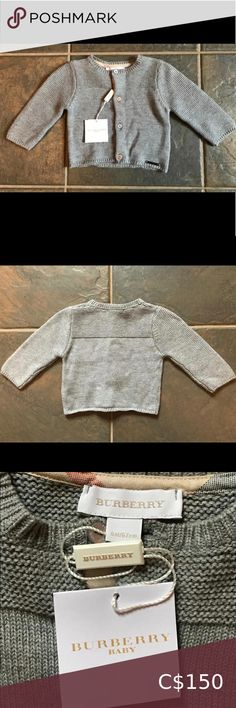 Burberry Baby Knit Cardigan 👶🏽 NWT cozy knit sweater size 6M! It was purchased as a gift that I never gave the chance to give, so the sticker tag has been partially removed, but the tag is fully intact. Burberry Shirts & Tops Sweaters Burberry Baby Boy, Burberry Shirt, Baby Boy Cardigan, Toddler Sweater, Ribbed Cardigan, Zip Up Sweater, Cozy Knit, Denim Coat, Girls Sweaters