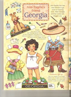 When I was small, paper dolls were as exciting as video games are now. Most of mine came from the Sears catalog.