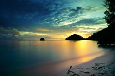 Papua · Indonesia · Raja Ampat · Travel · Tourist · Information · Sunset · Gradient · Yellow · Green · Blue · Sky · Water · Nature Sunset Gradient, West Papua, Wish I Was There, Go Around, Tourist Information, Before I Die, Papua New Guinea, Labradorite, The Dreamers