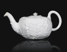 Very rare Richard Chaffers Liverpool Relief-moulded White teapot and cover. Circa 1758 | Sotheby's