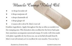DIY Muscle pain relief oil