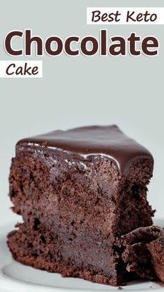 Best Keto Chocolate Cake Low Carb Chocolate Cake, Coconut Flour Chocolate Cake, Zuchinni Chocolate Cake, Keto Chocolate Mug Cake, Chocolate Desserts, Keto Desserts, Easy Keto Dessert, Atkins Desserts, Keto Snacks