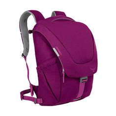 Osprey FlapJill Backpack - Dark Magenta - Laptop Backpacks ($110) ❤ liked on Polyvore featuring bags, backpacks, laptop backpacks, purple, padded backpack, zip backpack, padded laptop backpack, padded laptop bag and backpack laptop bag