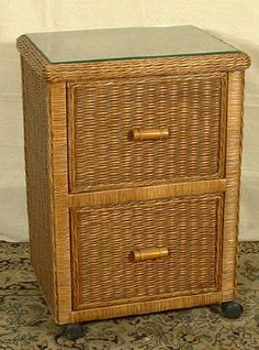 Shop for a Natural Wicker File Cabinet to store all of your important documents. Multi purpose wicker office furniture that looks great. Indoor Wicker Furniture, Sunroom Furniture, Wicker Chairs, Wicker Table, Wicker Baskets, Wicker Trunk, Wicker Mirror, Wicker Shelf, Porch Paint