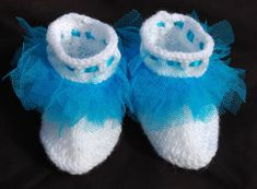 Original Blue Tutu Booties Unique Design by LittleScottishThings on Etsy Baby Booties, Baby Shoes, Blue Tutu, Absolutely Gorgeous, Hand Knitting, Baby Gifts, Booty, The Originals, Unique