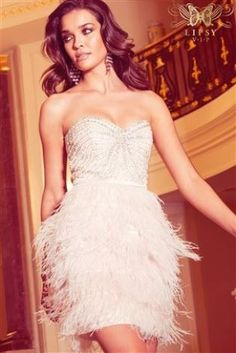 Buy Lipsy VIP Beaded Bust Feather Skirt Dress from the Next UK online shop