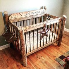 Country Rustic Baby Bed My Nephew Hayden Made For Their New Grayden