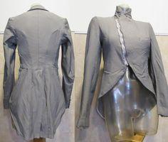 Comme des Garcons 2004 Tuxedo Inspired Tail Jacket Blazer Stretch Twill - S/M #CommedesGarcons #Blazer