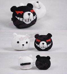 Danganronpa Dangan-Ronpa Junko Enoshima Cosplay Black and White Bears Hair Clip