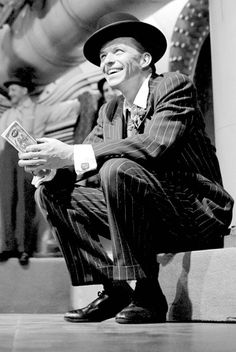 Frank Sinatra during the filming of Guys and Dolls