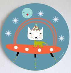 Image of Cuadro niño Nave Espacial- Spaceship wall art Kindergarten Interior, Crafts For Kids, Arts And Crafts, Nursery Signs, Scandinavian, Baby Kids, Kids Room, Decorative Plates, Doodles