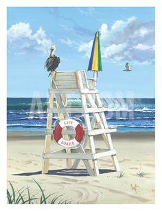 Pelican Perch Art Print by Scott Westmoreland at Art.com