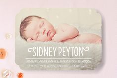 Simple & Sweet Birth Announcements by carly reed at minted.com