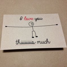 Tarjeta para San Valentín: I love you this much