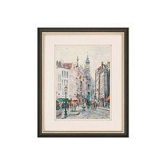 Kinkade Brussels Paintings ($349) via Polyvore featuring home, home decor, wall art, skyline wall art, cityscape wall art and cityscape painting