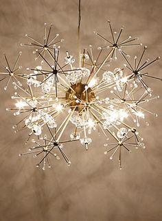 Preciosa lámpara tipo Sputnik, pero con todo el encanto de las luces navideñas.