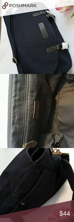 Brooks Brothers Messenger Bag Pristine w/tag and wrapped hardware. Inside zip and  outer snap pockets  Great gift for him, her or yourself!  So classic and so stuffable! Packs flat.  Super for travel, shopping, school or work. Brooks Brothers Bags Satchels