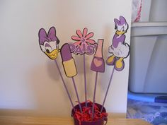 Image detail for -Daisy Duck Balloon Weight/ Centerpiece by cricutcrafter1 on Etsy