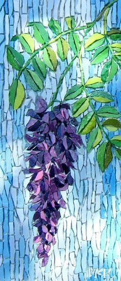 """Wisteria"""" - mosaic by Kimmy McHarrie"""