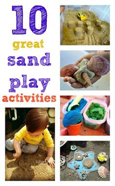 10 Sand Play Activities (from Nurture Store) Creative Play, Creative Activities, Sensory Activities, Craft Activities For Kids, Infant Activities, Sensory Play, Summer Activities, Crafts For Kids, Sensory Table