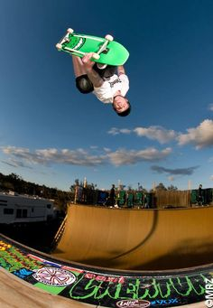Definitely Grosso Skateboarding! Jeff Grosso in the air!
