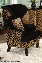 Animal Print chair...one cool piece like this...makes the room. Love this chair!