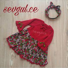 "728 Beğenme, 23 Yorum - Instagram'da Sev🌹 (@sevgul.ce): ""❤💚❤💚❤💚 💁Pazen $ehre inince😉 . . . . . . . . . . . . . . . #sevgulceelbise #sevgulceyleorguelbise…"" Kids Outfits Girls, Girls Dresses, Knitting For Kids, Frocks, Knit Crochet, Kids Fashion, Winter Hats, Girly, Sewing"