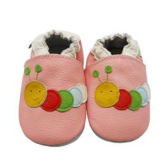 Sayoyo Baby Caterpillars Soft Sole Pink Leather Infant An...