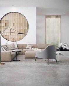 Cozy Modern Minimalist Living Room Design Ideas for Inspiration - Modern Interior Design Interior Minimalista, Design Minimalista, Home Design, Home Interior Design, Interior Architecture, Design Ideas, Interior Styling, Salon Design, Modern Home Interior