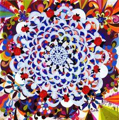 Pintura de Beatriz Milhazes #luxosqueoimpériotece #brasil #arte #artecontemporanea #pintura #pinturamoderna #pinturabrasileira #cores #flores #beatrizmilhazes #milhazes #império #imperivm #imperivmriodejaneiro | Painting by Beatriz Milhazes #luxuriesthattheempireweaves #brazil #art #contemporaryart #painting #modernpainting #colours #flowers #beatrizmilhazes #milhazes #empire #imperivm #imperivmriodejaneiro