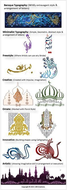 Modern, Contemporary Arabic Calligraphy Styles – Bismillah: Islamic Graphics