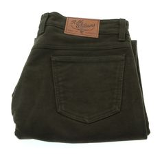 ca5941ba RM Williams Overseer Luxury Moleskin Jeans Forest Green Large Image