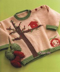 Free Pattern: Apple Tree Sweater