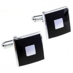 Timeless Black and Sliver Cufflinks Cufflinks, Copper, Classic, Silver, Painting, Accessories, Black, Men, Fashion