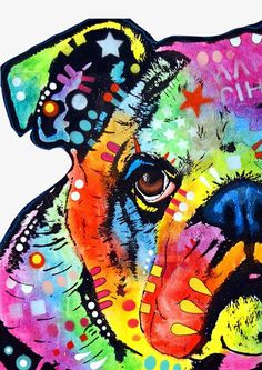 Shop for bulldog art from the world's greatest living artists. All bulldog artwork ships within 48 hours and includes a money-back guarantee. Choose your favorite bulldog designs and purchase them as wall art, home decor, phone cases, tote bags, and more! Arte Pop, Painting Prints, Wall Art Prints, Canvas Prints, Tableau Pop Art, Fine Art Amerika, Animal Paintings, Unique Art, Canvas Art