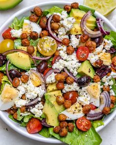 This Spicy Roasted Chickpea Salad is Savory, Crunchy and Delicious! This Spicy Roasted Chickpea Salad is Savory, Crunchy and Delicious! Crispy Chickpeas, Canned Chickpeas, Roasted Chickpea Salad, Clean Recipes, Healthy Recipes, Clean Eating, Healthy Eating, Salad Ingredients, Along The Way