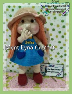 Mia doll Amigurumi   100% handmade by me, Ment Eyna Crochet, pattern and design by Havvadesign