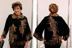 """Пиджаки, жакеты ручной работы. Ярмарка Мастеров - ручная работа тканый жакет """"Осень"""", кепка. Handmade."""
