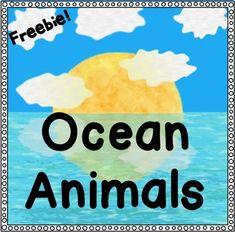 Ocean Animals! ~ Freebie ~ This is a sea turtle sample. (Kindergarten, first grade)