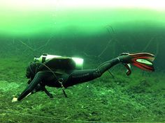 photo of a diver mid-frog kick - © 2012 Anders Knudsen