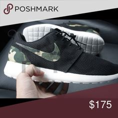 new concept f452d 5c663 Camo Nike Roshe One Custom Sizes listed are for women. Men sizes 7-13
