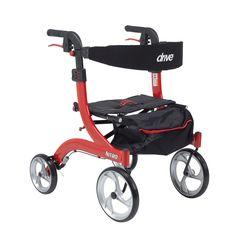 Drive Medical Nitro Hemi Height Euro Style Walker Rollator (Hemi Height,
