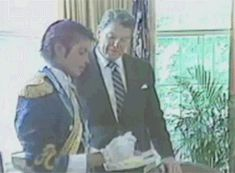 lacienegasmiled: News and footage of President Ronald Reagan honoring Michael Jackson at the Whitehouse, 1984. x / x / x