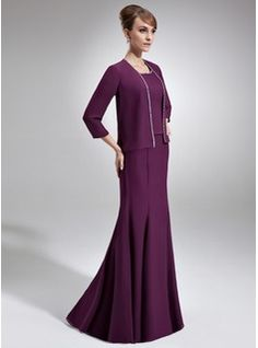 Mother of the Bride Dresses - $157.99 - Trumpet/Mermaid Scoop Neck Floor-Length Chiffon Mother of the Bride Dress With Beading  http://www.dressfirst.com/Trumpet-Mermaid-Scoop-Neck-Floor-Length-Chiffon-Mother-Of-The-Bride-Dress-With-Beading-008005928-g5928