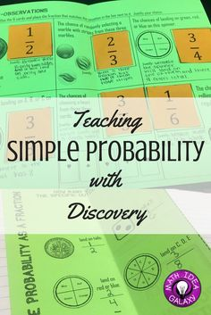 How to teach simple probability through discovery and foldable notes. Help students get a solid foundation with a step by step guide through a discovery lab, and foldable notes for the math interactive notebook.
